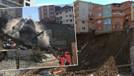 Kağıthane'de dört katlı bina canlı yayında çöktü