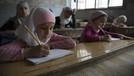 Suriyeli çocuklara Türkçe sınıfı