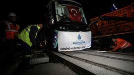 Eminönü-Alibeyköy hattında ilk test sürüşü!