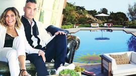 Ayda ve Robbie Williams evinin kapılarını açtı