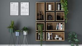 Yaşam Alanlarına Estetik Katan Kitaplık Modelleri