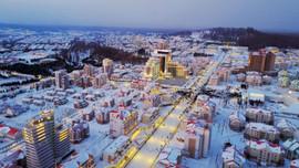 Kuzey Kore şehir Samjiyon'un açılışını yaptı!