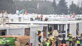 10 günde inşa edilen hastane kullanıma açıldı