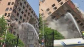 Bahçelievler'de 11 katlı binada tehlikeli yıkım!