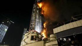 Dubai'nin 63 katlı lüks oteli yandı