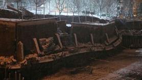 İstanbul Bahçelievler'de göçük paniği! Binalar boşaltıldı