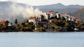 Şövalye Adası'nda 2 milyon liralık villa yandı