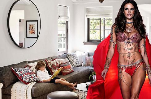Victoria's Secret modeli eviyle de hayran bıraktı