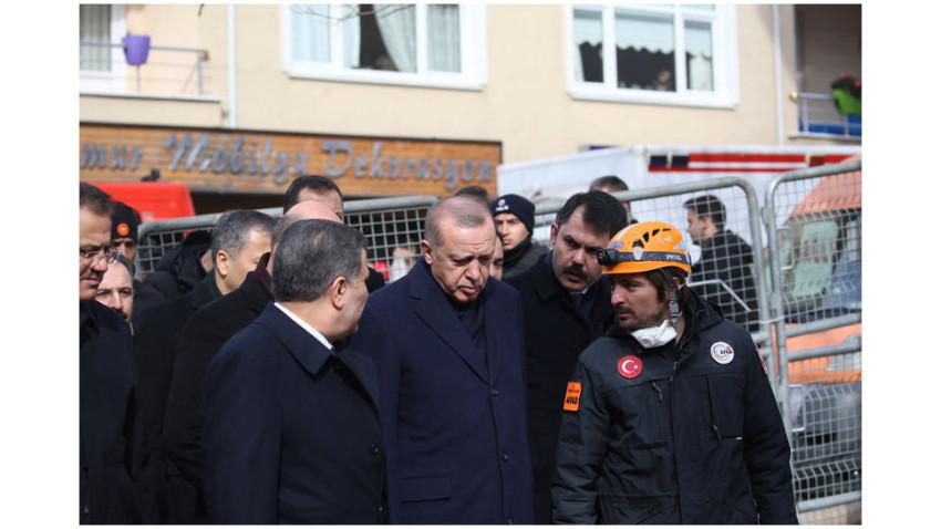 Erdoğan Kartal'daki enkaz alanında: Ders almalıyız