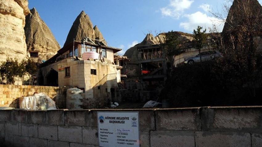 Peribacaları yanındaki otel inşaatı durduruldu