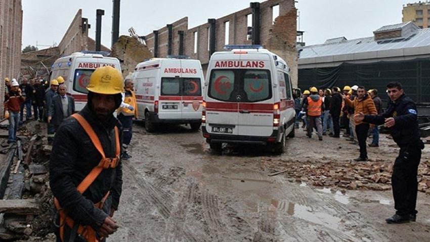 Müze inşaatı çöktü: 1 işçi hayatını kaybetti