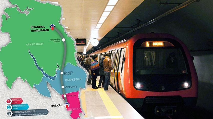 İşte İstanbul'da devam eden 17 metro hattı