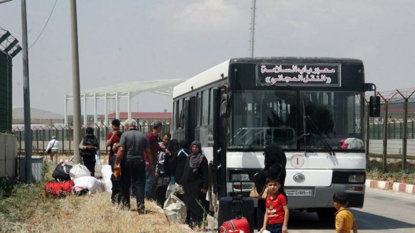 Bayram tatilini bitiren Suriyeliler dönüyor
