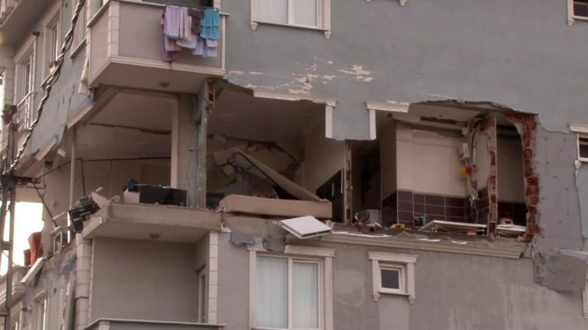 İstanbul'da binada doğalgaz patlaması!