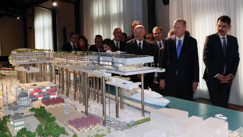 Erdogan Galataport'u hakkında bilgi aldı