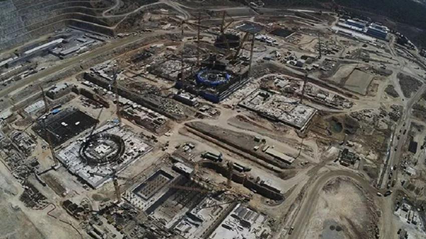 Akkuyu'da 2. ünitede reaktör temeli tamamlandı! Eyfel'in 3'te 1'İ kadar demir!
