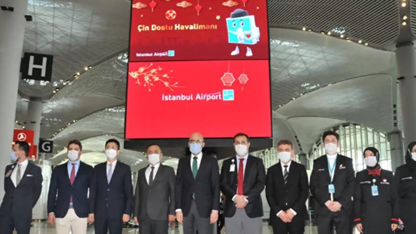 İstanbul Havalimanı'na 'Çin Dostu' belgesi! Dünyada alan ilk ülke