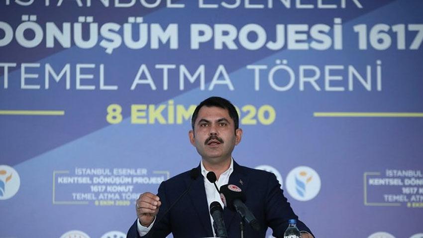 Bakan Kurum açıkladı: İstanbul'a 60 bin yeni konut
