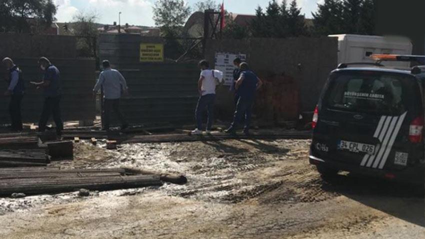 İBB mühür vurdu ama Eyüp'te cami inşaatı yeşil alana yapılmaya devam ediyor!