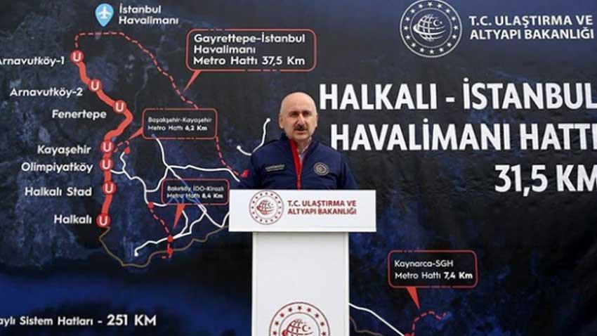 İstanbul'a iki raylı sistem hattı daha geliyor! Bakan o yerleri açıkladı