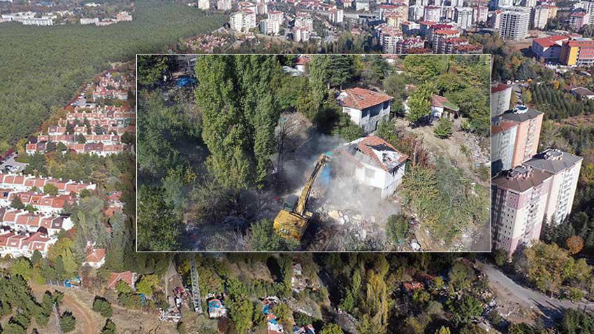 Başkente büyük temizlik! 220 gecekondu 154 baraka ve çadır yıkıldı...