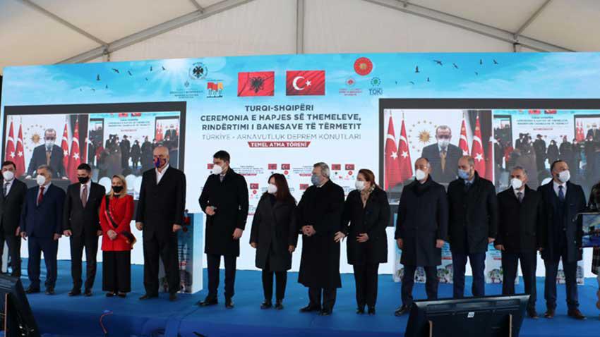 TOKİ'den Arnavutluk'ta depremzedelere 522 konut! Temeli bugün törenli atıldı
