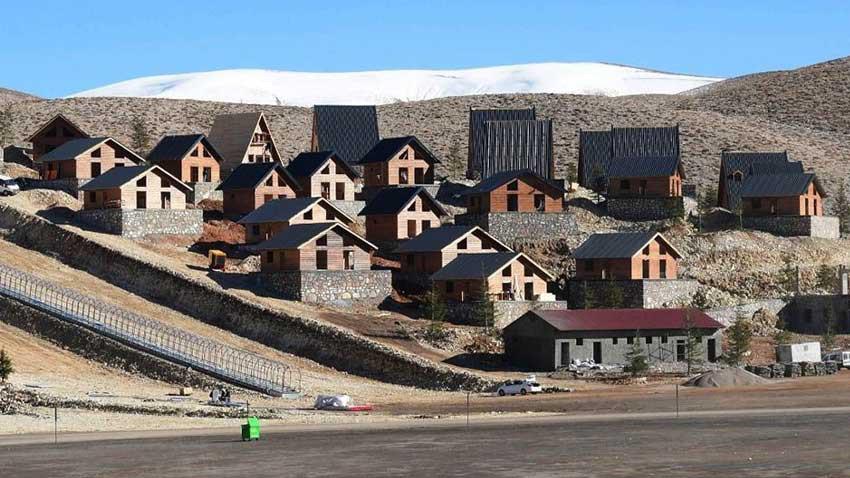 Kahramanmaraş Yedikuyular bungalov evleri tamamlandı... 27 milyona yapıldı