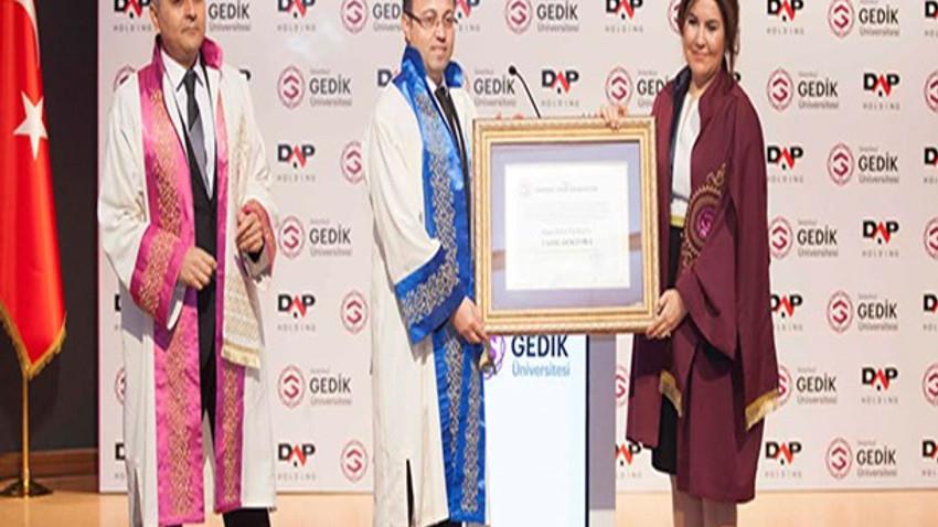 DAP Holding Yönetim Kurulu Başkanı Ziya Yılmaz'a Fahri Doktora unvanı