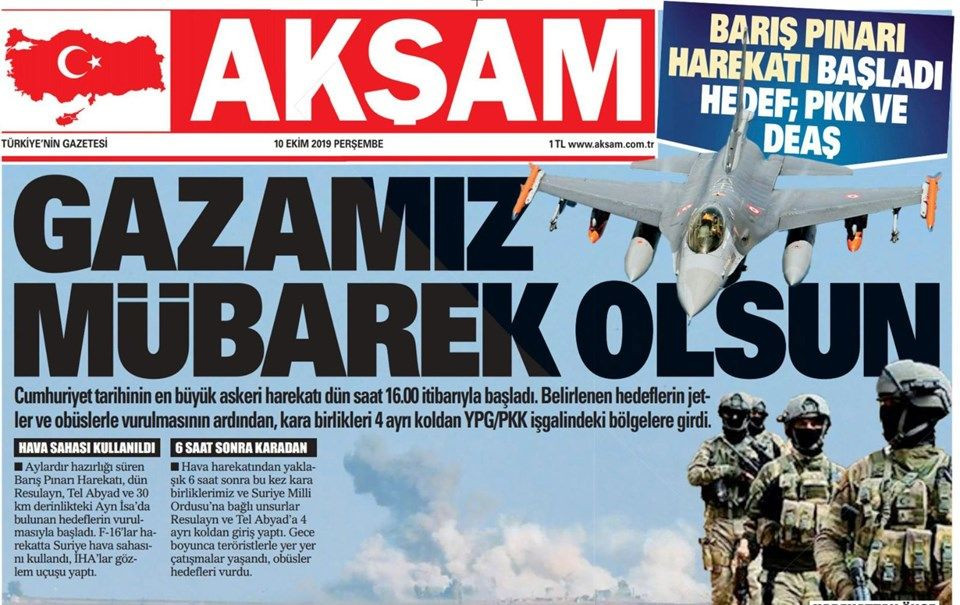 Gazeteler Türkiye'nin harekatını nasıl gördü? - Sayfa 1