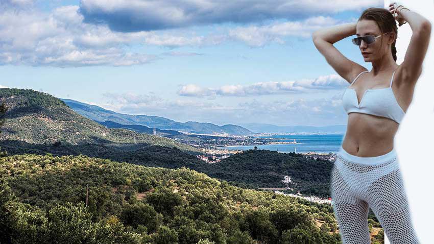 Cem Yılmaz'dan ayrılan Serenay Sarıkaya dağdan arazi satın aldı